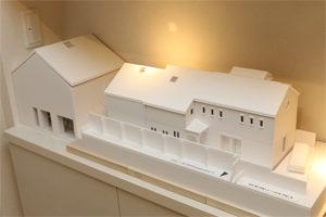 防音対策された音楽ホールの模型